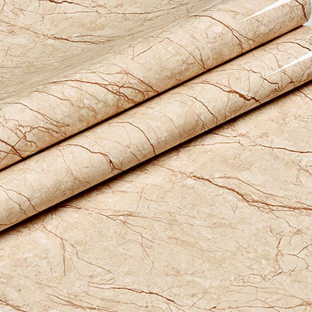 5m Pel/ícula de vinilo de m/ármol Autoadhesivo Papel pintado impermeable para ba/ño Cocina Armario Encimeras Papel de contacto PVC Pegatinas de pared 80cm