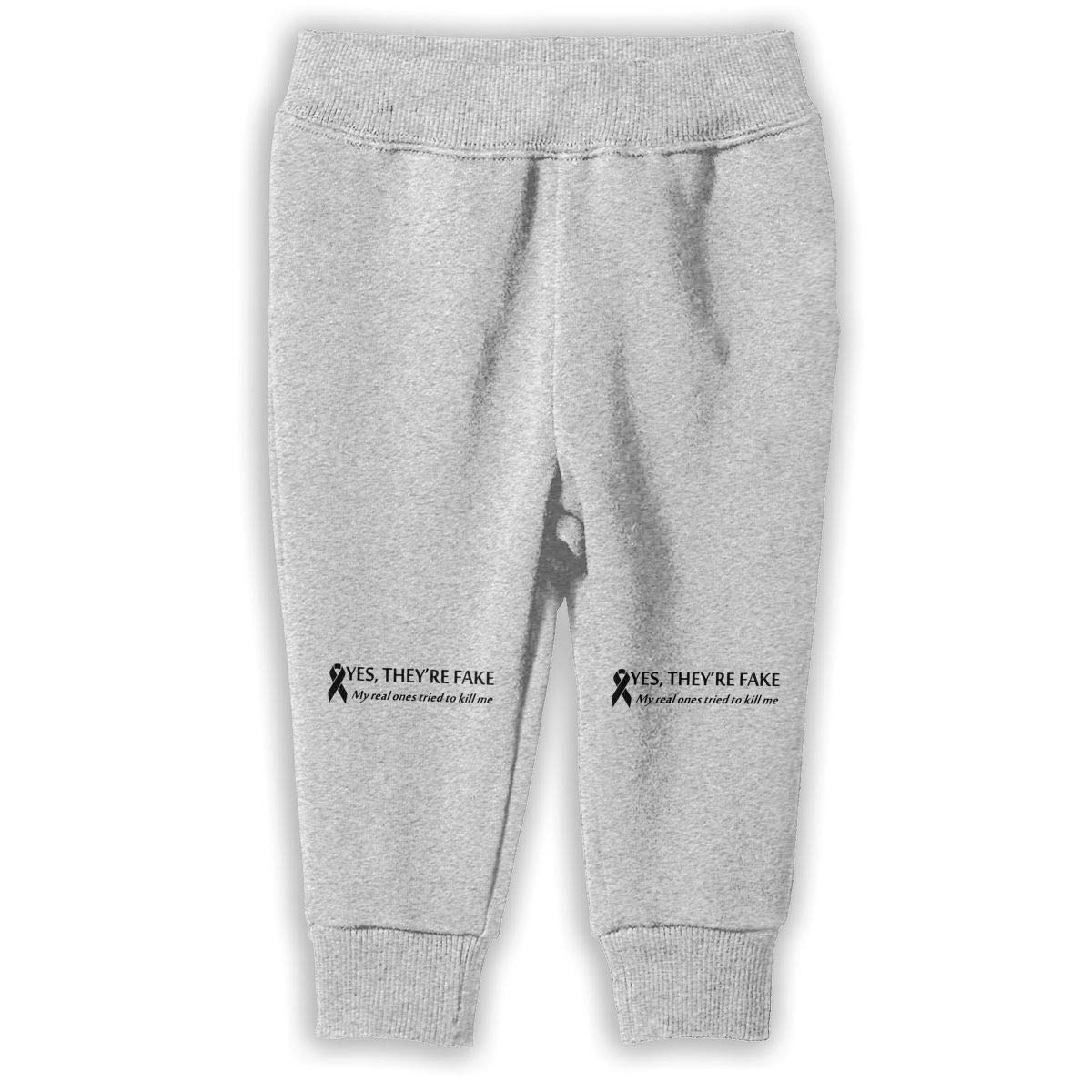Printed Yes Theyre Fake My Real Ones Tried Kill Me Childrens Boys Girls Unisex Cool Sweatpants