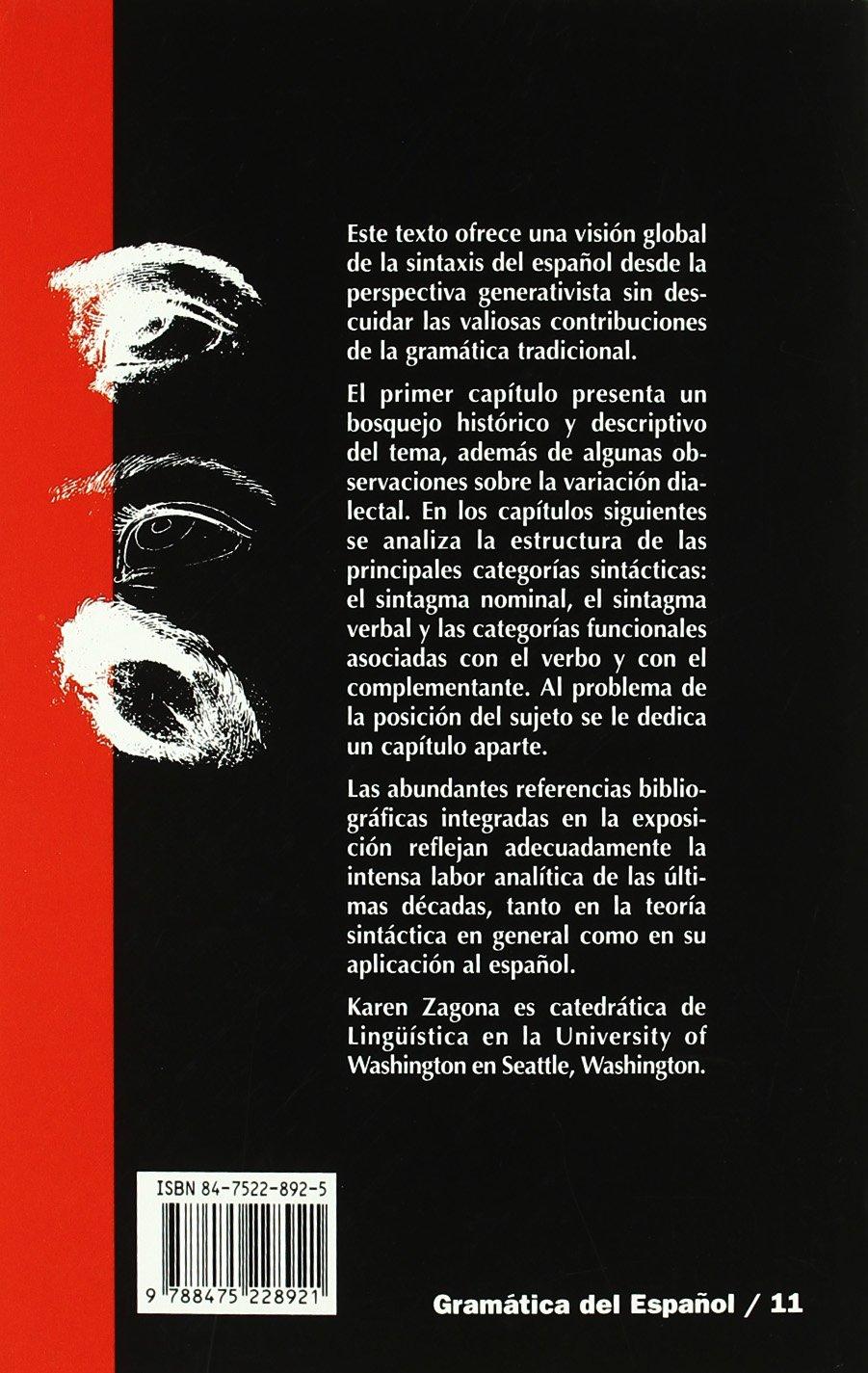 Sintaxis generativa del español Gramática del Español: Amazon.es: Karen Zagona, Heles Contreras, Conxita Lleó: Libros