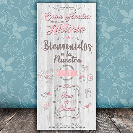 Decoración Boda | Cartel Boda Bienvenidos a Nuestra Historia ...