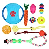 10 Pack Dog Toy Set Ball Rope and Chew Squeaky Toys for Small Medium Dog