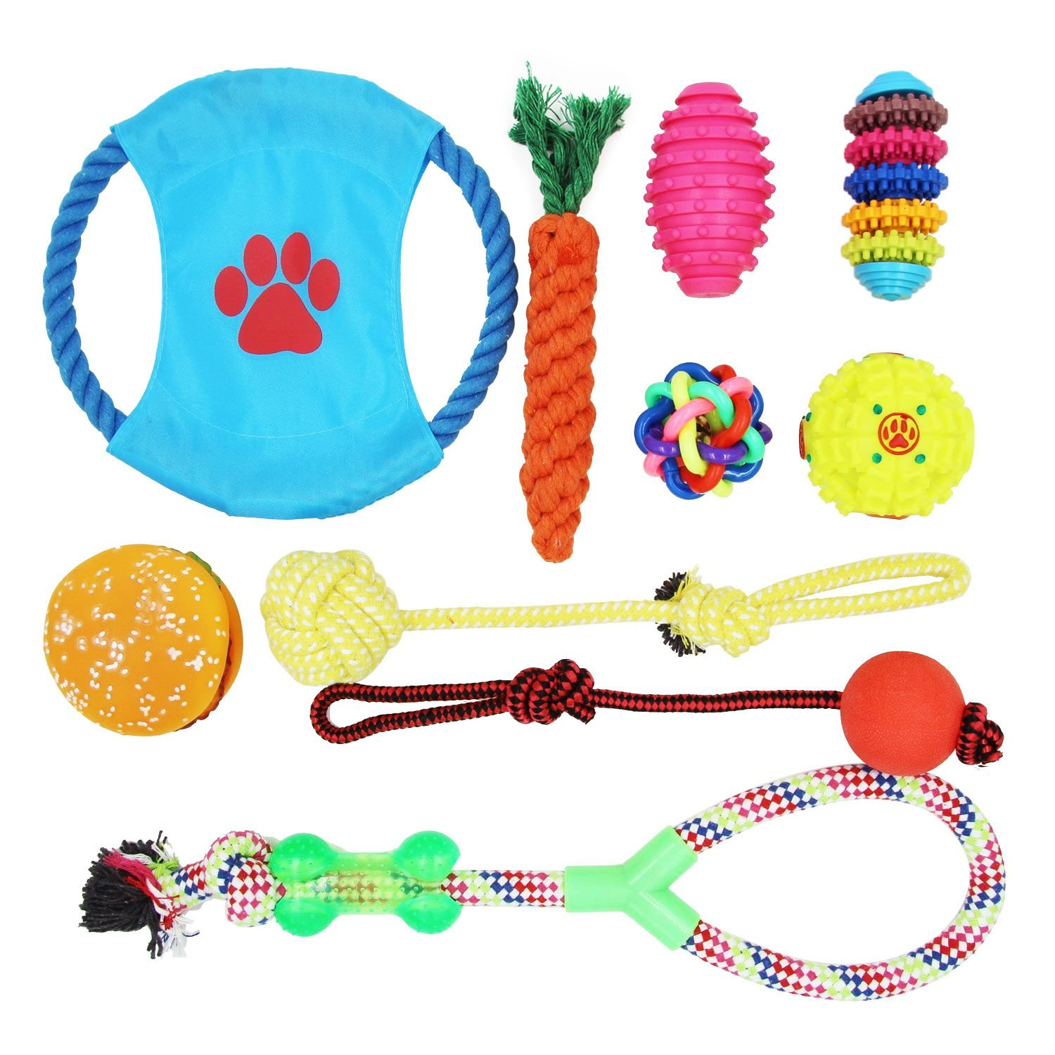 10 Pack Dog Toys for Small MEDIUM Dog