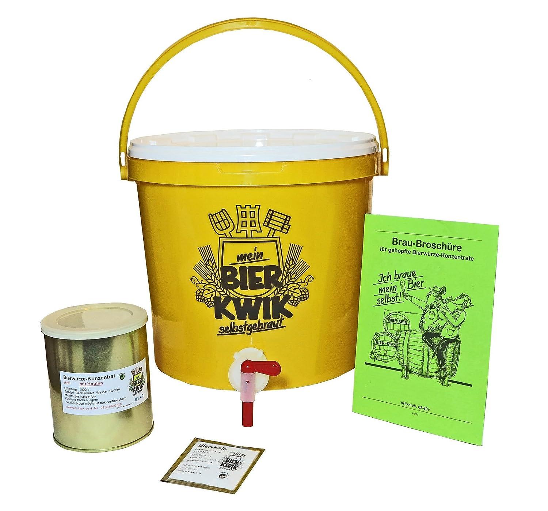 Hobby-Bier-Brauset Einsteiger zur Herstellung von HELLEN Bieren Bier-Kwik®