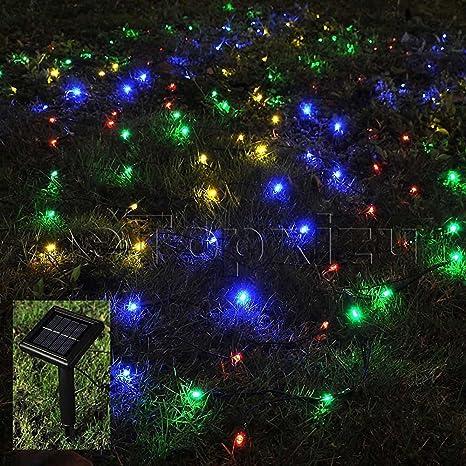 1mx2m outdoor solar net led string lights christmasetopxizu 328ftx656ft 120led solar