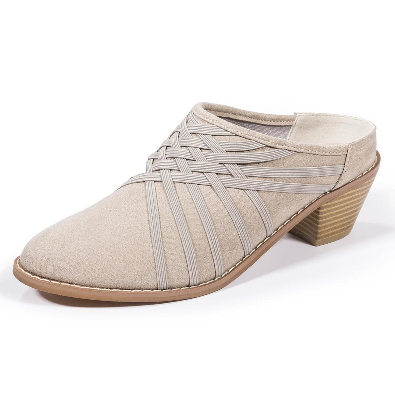 Zee Alexis Womens Melissa Clog Shoes Warm Grey