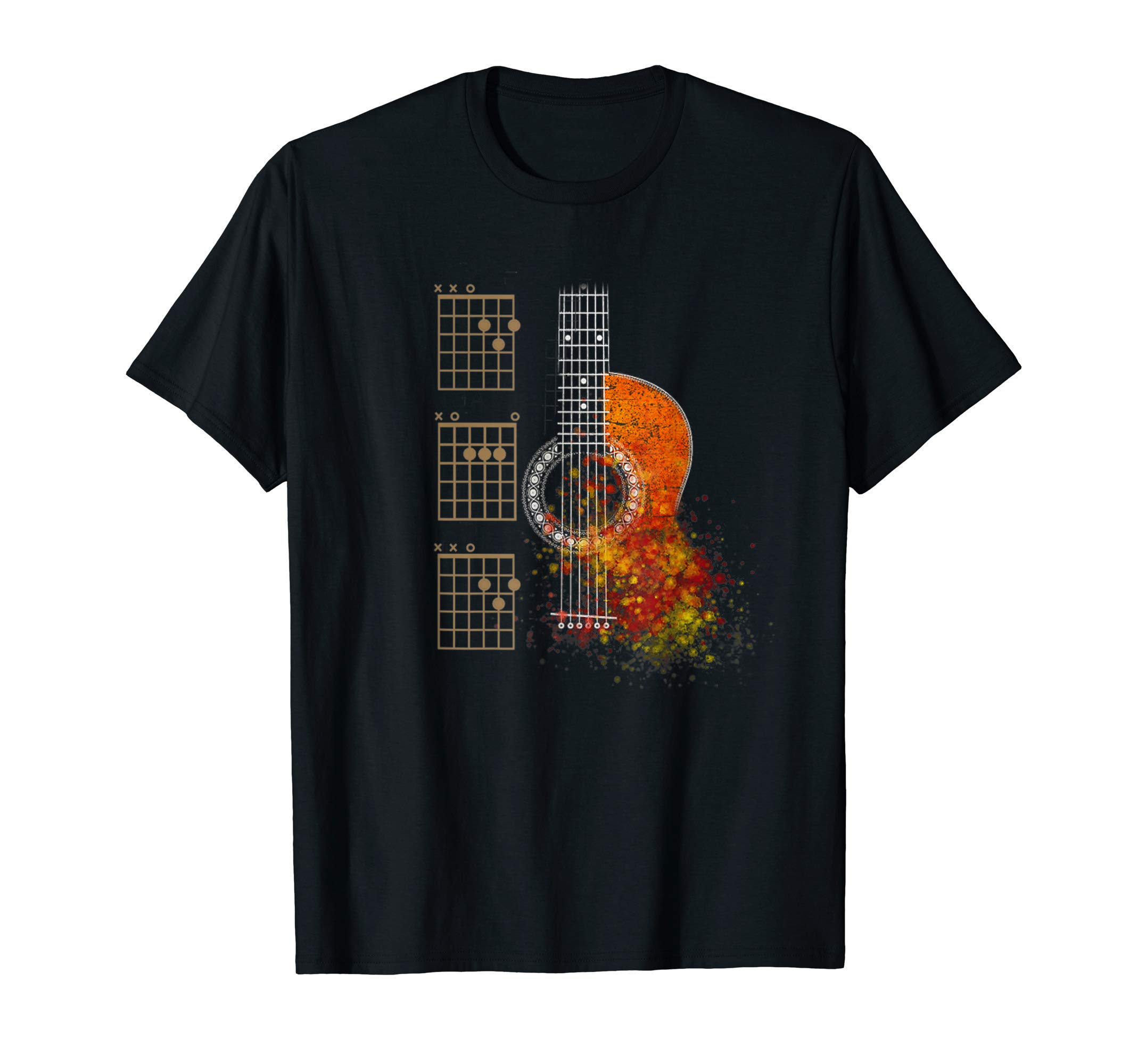 DAD Chords Acoustic Guitar Shirt by The Acoustic Guitarist Lovers T-shirt