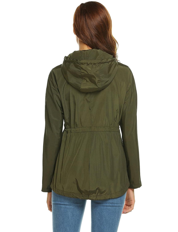 e3ea051fadb Amazon.com: Zeagoo Women Waterproof Rain Jacket Hoodie Windproof Outdoor  Coat Venture Windbreaker: Clothing