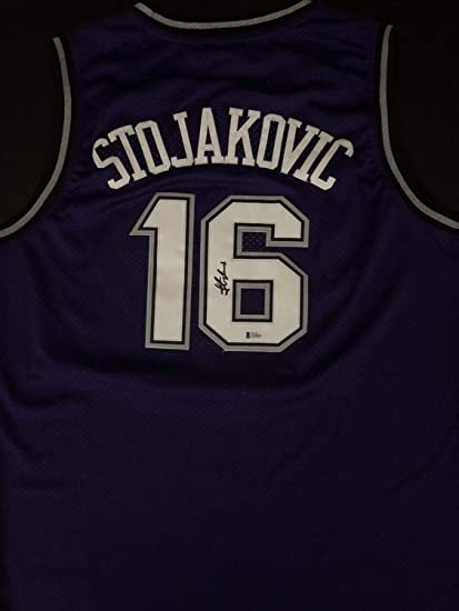 f450c3ebd157 Image Unavailable. Image not available for. Color  Peja Stojakovic  Autograph Autographed Signed Sacramento Kings Jersey ...