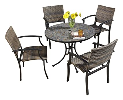 Amazon Com Home Styles 5601 3081 Stone Harbor 5 Piece Outdoor