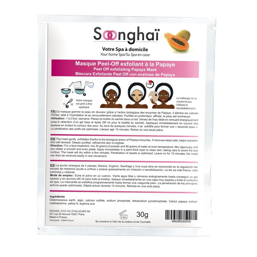 soonghai máscara peel-off Exfoliante a base de la papaya soonghai ...