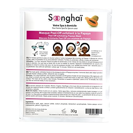 soonghai máscara peel-off Exfoliante a base de la papaya soonghai ...