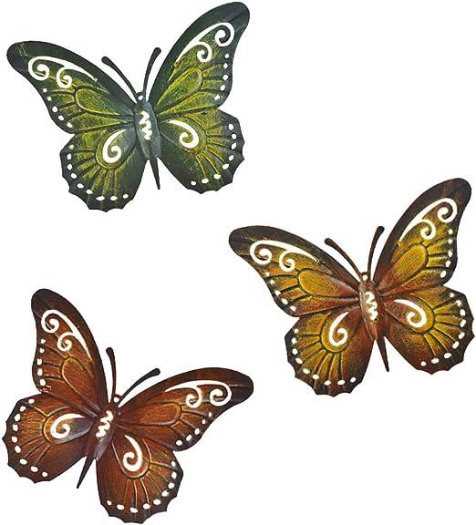 Metal Wall  Art Butterfly Garden  Decoration X4