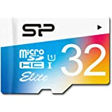 Silicon Power 32GB Elite micro SDHC UHS-1 Memory Card - with Adapter (SP032GBSTHBU1V20SP)