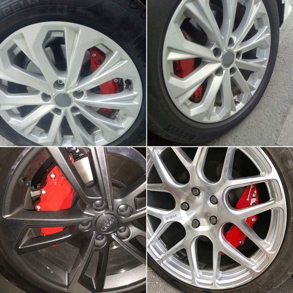 Gallocabe 4 pezzi Kit pinza freno rosso Copri pinza freno universale per disco anteriore e posteriore