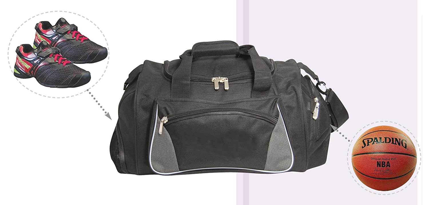 Amazon.com   Large Gym Bag with Basketball Holder and Wet   Shoe Pocket    Sports   Outdoors