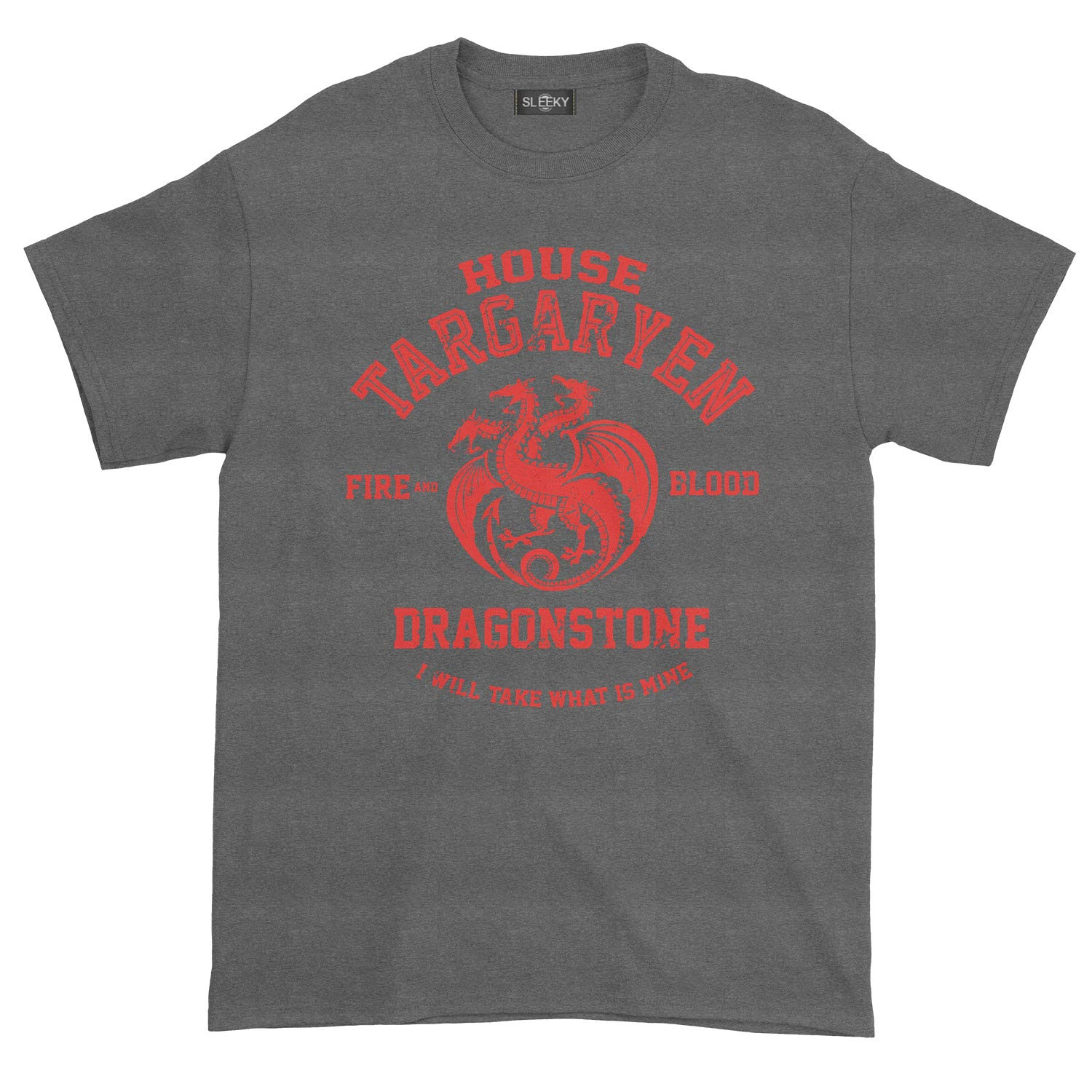 Sleeky House of Targayen Fire and Blood Dragonstone T-Shirt