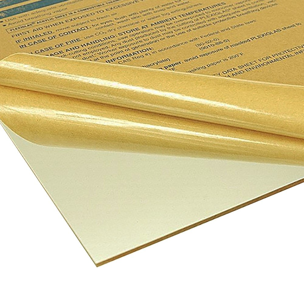 Online Plastic Supply Acrylic Plexiglass Sheet 1/4'' x 24'' x 36'' - Clear