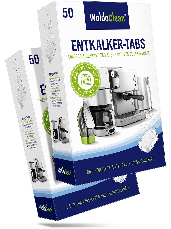 Descalcificador Cafetera Pastillas de descalcificación - 100x 16g Tabletas para máquina de café, Compatible con marcas Delonghi, Dolce Gusto, Nespresso, ...
