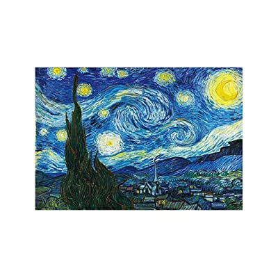 Liberty Puzzles Wooden Jigsaw Puzzles 1000 Pieces,Starry Night - Vincent Van Gogh,Puzzles Toys for Adults Family Wall Decoration: Toys & Games