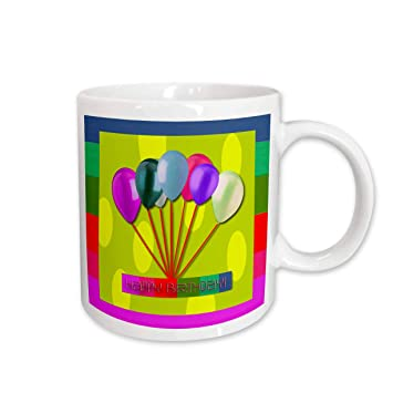 Buy 3dRose Happy Birthday Balloons Yellow Ceramic Mug 11 Ounce Online At Low Prices In India