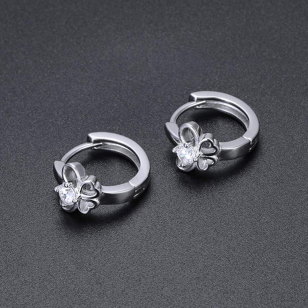 AoedeJ 925 Sterling Silver Small Huggie Hoop Earrings Cubic Zirconia Ear Cuffs for Women
