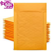 GSSUSA Yellow Kraft Bubble Mailers 4x8 Padded Envelopes #000 Shipping Envelopes Bubble Mailers Self Sealing Padded…