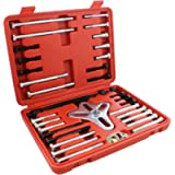 Auto Body Now ABN Harmonic Balancer Puller 46-Piece Tool Kit – Flywheel Remover, Crankshaft Pulley Removal, Steering…