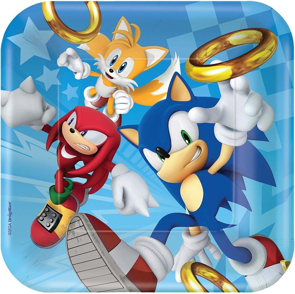 Amscam 551708 Hedgehog Sonic 23Cm Square Plate