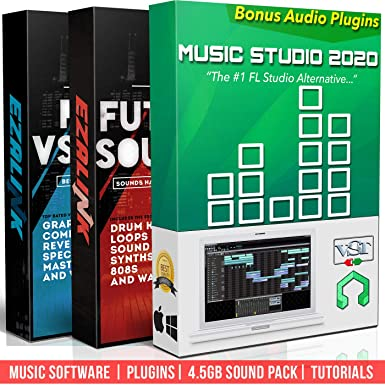 Beat Making Music Software Pro Pack - Best Music Production DAW + 5Gb of  Sounds & Audio Plugins for Windows PC & MAC 2019 (2 Disc Set)