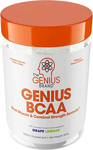 Genius BCAA Powder Nootropic Amino Acids Muscle Recovery Drink Natural Vegan Energy BCAA