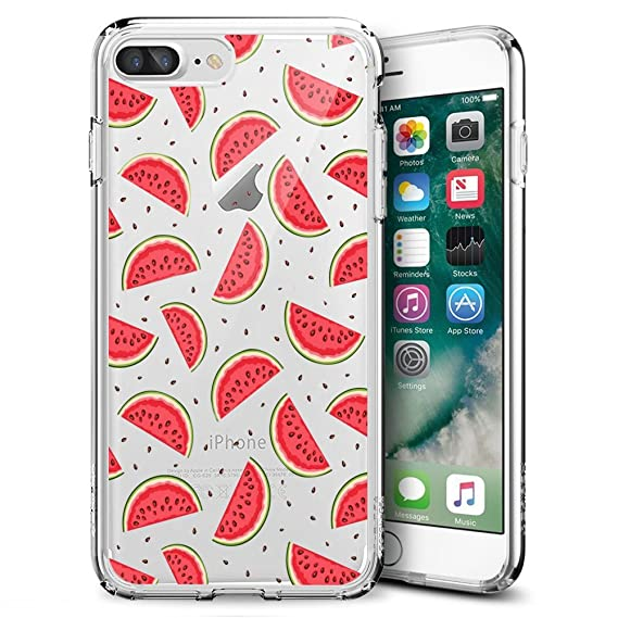 info for 10f6b 730f9 Amazon.com: Slim Clear Watermelon Case For iPhone 7 Plus 8 Plus ...