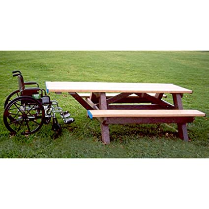 Amazoncom Standard Recycled Plastic Picnic Table With One Handicap - Office picnic table