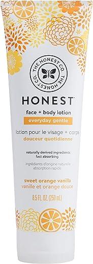 The Honest Company Everyday Gentle Sweet Orange Vanilla Face + Body Lotion | Dermatologist Tested | Gentle for Babies | Baby Lotion | Orange and Vanilla Extracts & Coconut Oil | 8.5 Fl Oz