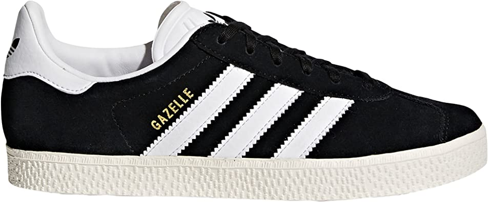 Adidas Gazelle Chaussures Baskets Femme Noir, Bleu, Rose. Sneaker. Low-Top.  Baskets Mode (36 2/3 EU, Core Black/Footwear White)