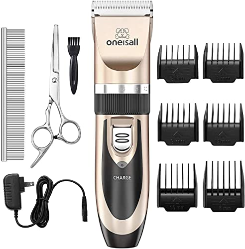 oneisall-Dog-Shaver-Clippers-Low-Noise-Rechargeable-Cordless-Electric-Quiet-Hair-Clippers-Set-for-Dogs-Cats-Pets