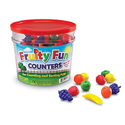 Learning Resources Fruity Fun Counters, Educational Counting & Sorting Toy, Set of 108: Toys & Games
