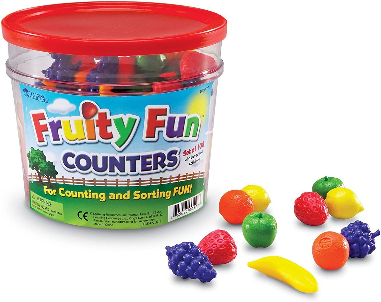 Learning Resources Fruity Fun Counters, Educational Counting & Sorting Toy, Set of 108