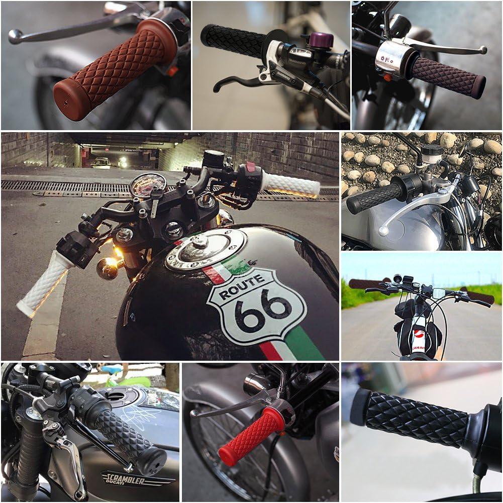 OPSLEA Manopole del Motociclo Impugnatura in Gomma Antiscivolo Barra di Spinta 7//8 22mm Moto Manico Manubrio Grip Moto Maniglia in Gomma