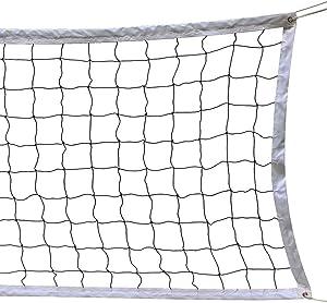 NKTM Outdoor Sports Classic Volleyball Net for Garden Schoolyard Backyard Beach (32 Feet x 3 Feet) Poles Not Included