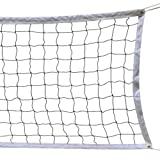 Volleyball Net, 9.5M * 1M With Steel Cable Rope Foldable Official Standard Size Indoor Outdoor Sports Equipment