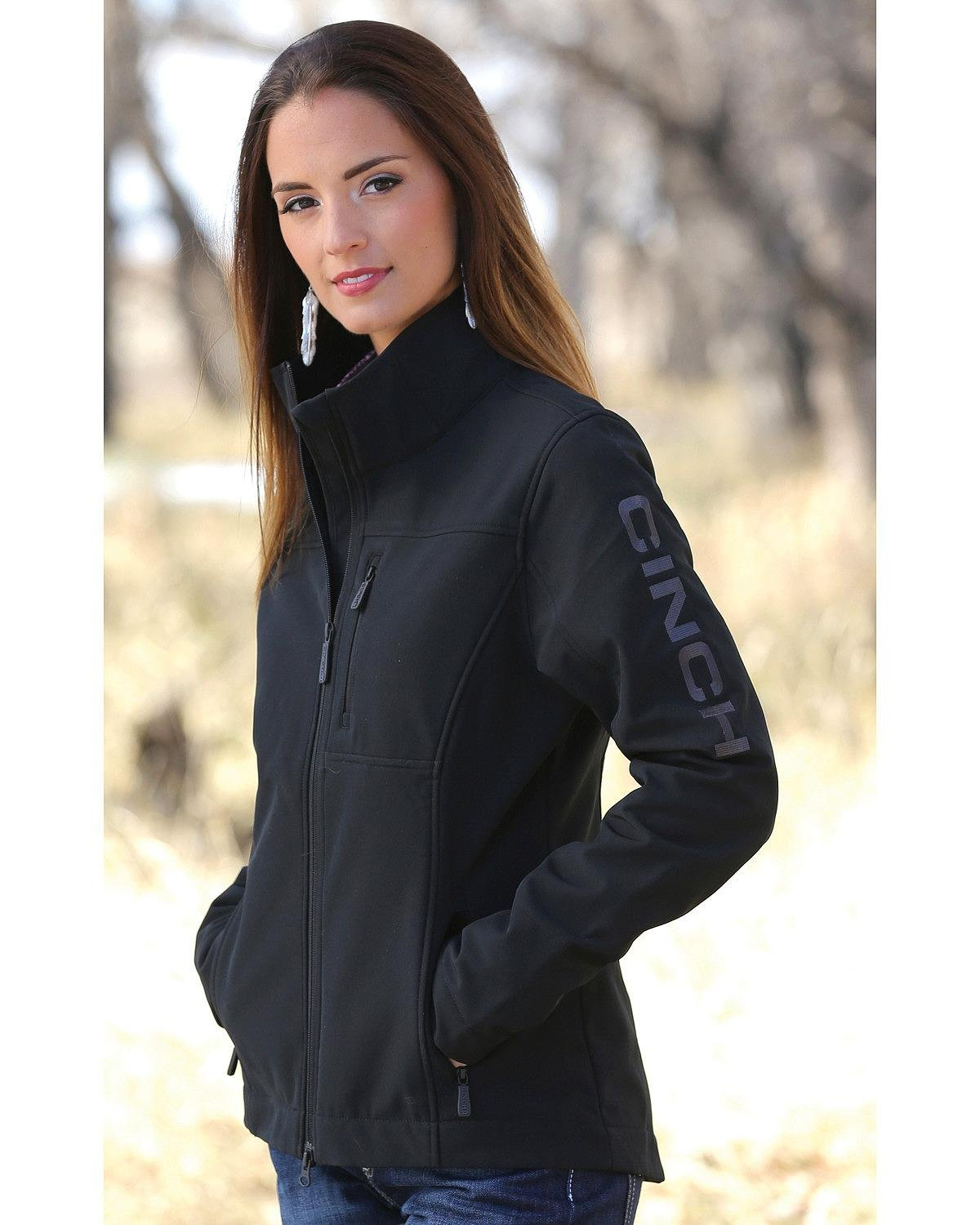 Cinch Women's Concealed Carry Bonded Jacket Black X-Large by Cinch
