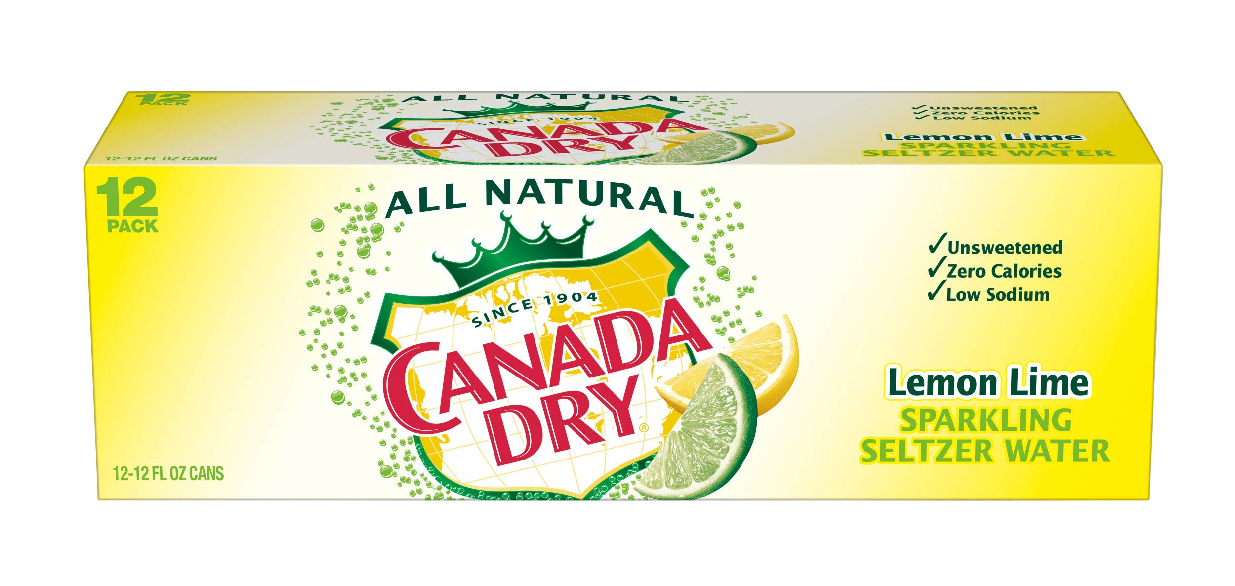 Canada Dry Lemon Lime Sparkling Seltzer Water, 12 fl oz cans, 12 count by Canada Dry