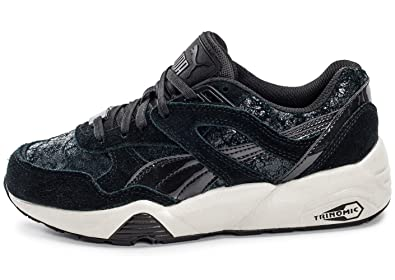 new concept 9c62e b6949 Puma Womens R698 Trainers in Black: Amazon.co.uk: Shoes & Bags