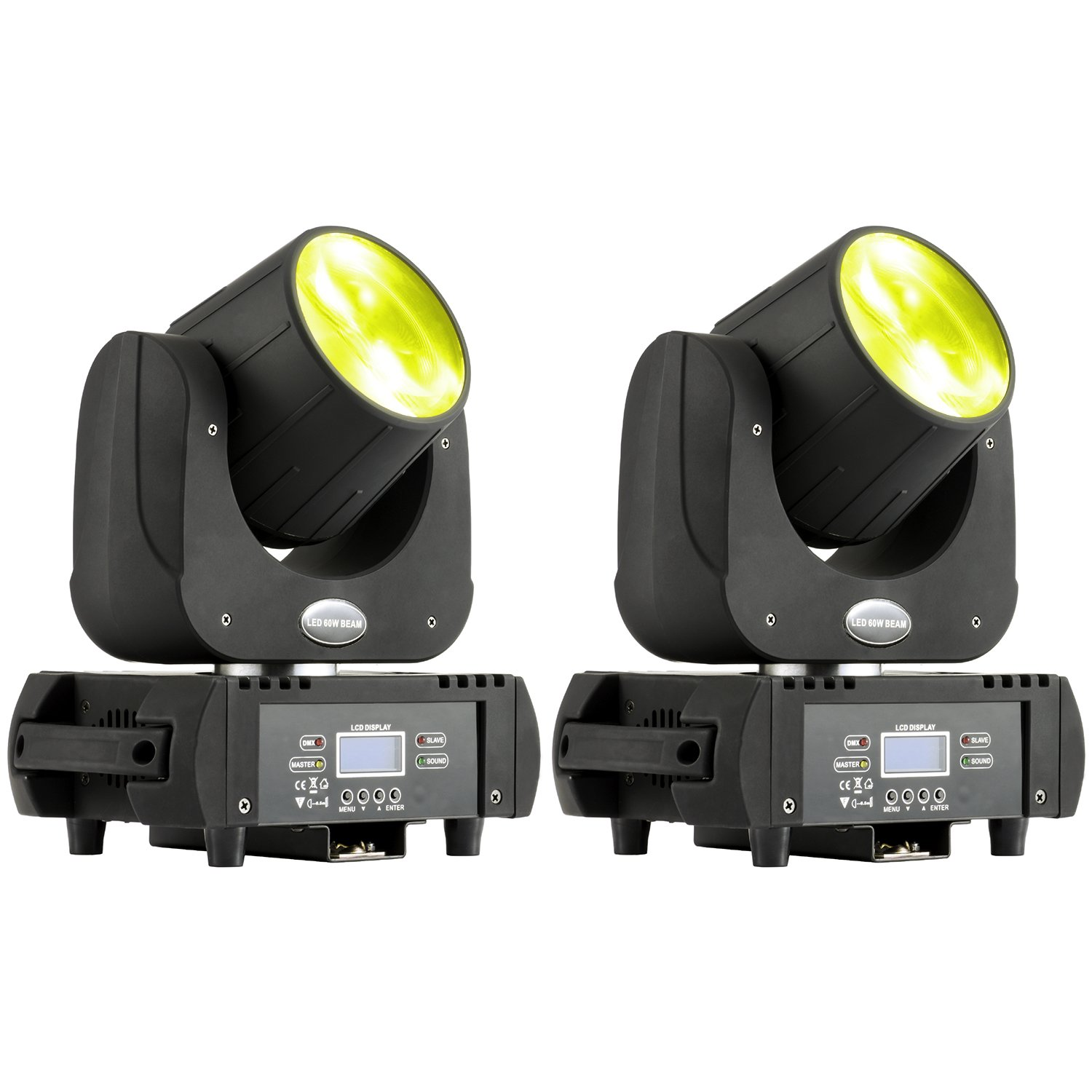 MFL B60 DJ Moving Head Light Led Beam 60W RGBW Yellow Purple 6 Colors Stage Lighting for Big Venue Arena Outdoor Party Live Concert 2 Pack
