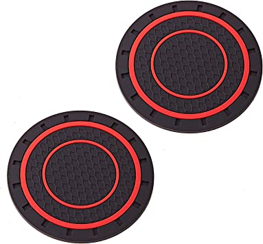 DBlosp Universal Cup Holder Coasters-Car Interior Accessories 2.75 inch Silicone Anti Slip Cup Mat for All Cars