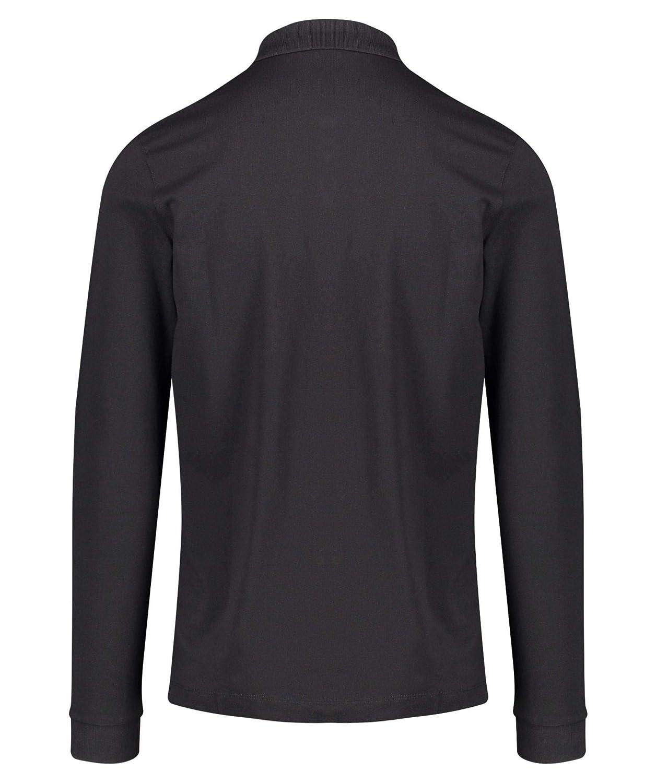 04985750a Hugo Boss Black Men s Pado 10 Pima Cotton Regular Fit Long Sleeve Black  Polo XXL Black at Amazon Men s Clothing store