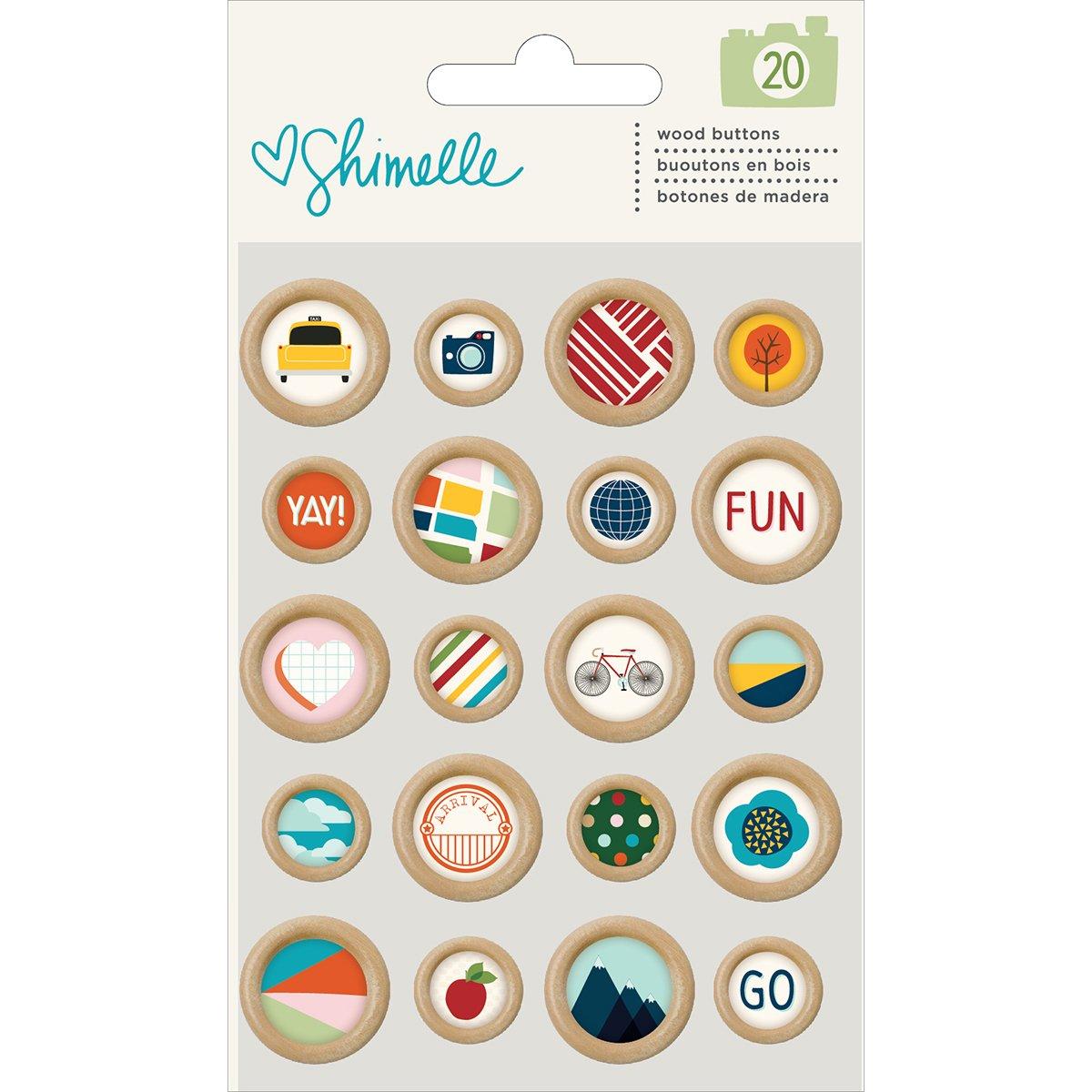 American Crafts Botones Madera Shimelle por Shimelle Dayka Trade 375278