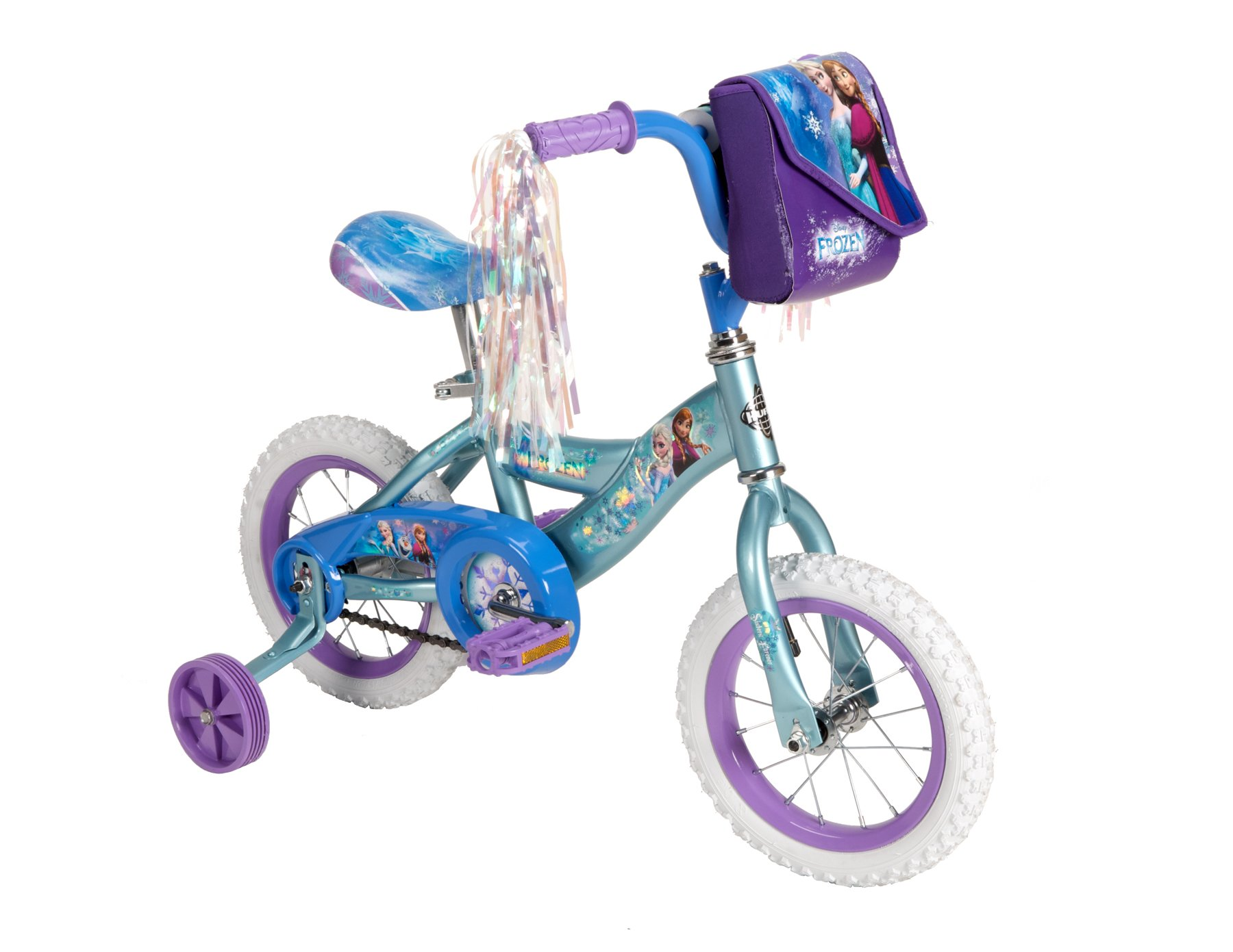 Disney Frozen 12-inch Bike by Huffy, Recommended for Ages 3-5 and a Rider Height of 37-42 inches, with Fun Graphics of Elsa, Anna, and Olaf, Style 22235