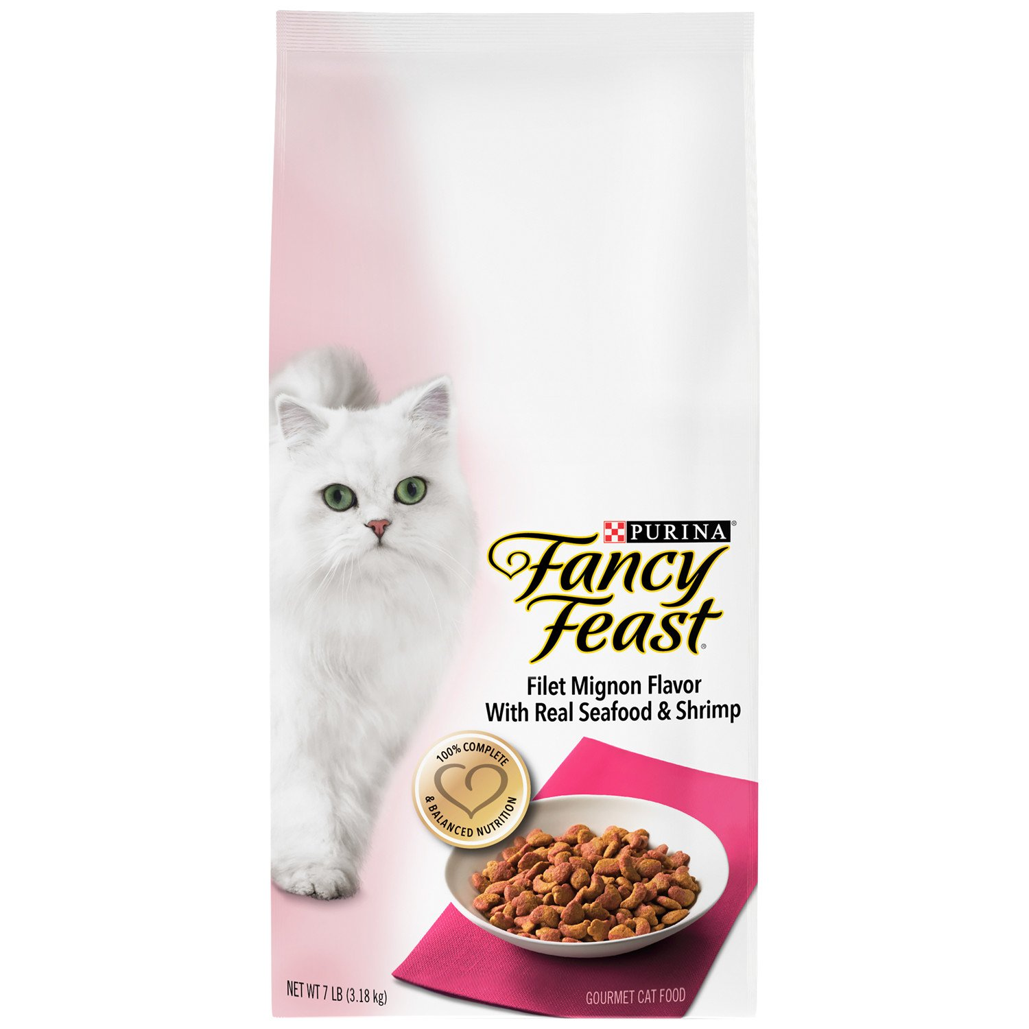 7 lb. Bag Purina Fancy Feast Gourmet Dry Cat Food Filet Mignon Flavor with Real Seafood and Shrimp