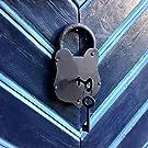 antikas–Cadenas antivol Antique–Amitié Château Rideaux Verrou de portail en bois